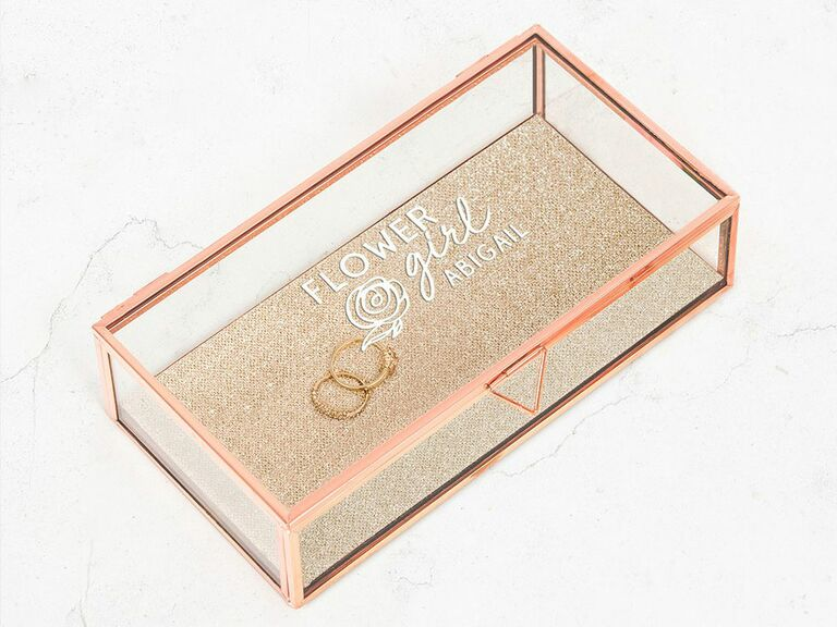 rose gold and glass jewelry box