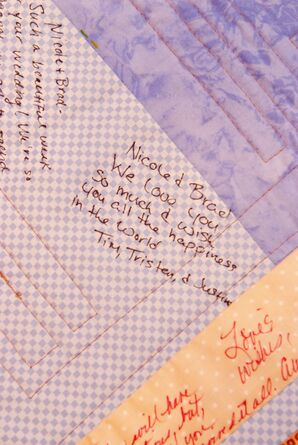 Quilted Guest Book With Handwritten Notes