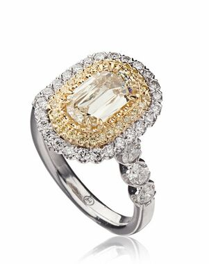 Christopher Designs Cut Engagement Ring