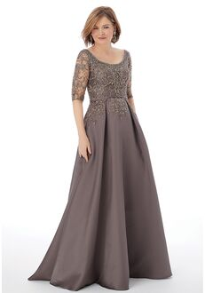 MGNY 72205 Gray,Gold,Red Mother Of The Bride Dress