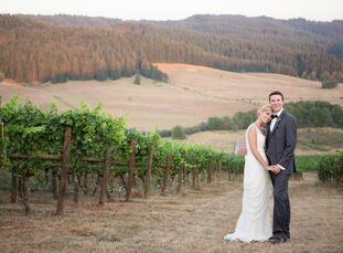 Jenna Scott (25 and a registered nurse) and Wren Weichman (25 and a YouTuber) were married at Sweet Cheeks Winery not only for its convenient location