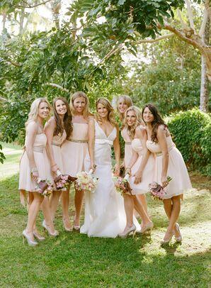 Strapless Donna Morgan Bridesmaid Dress