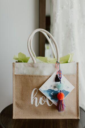 Modern Welcome Bag with Custom Map