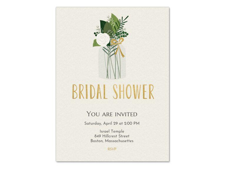 Bridal shower online wedding invitation