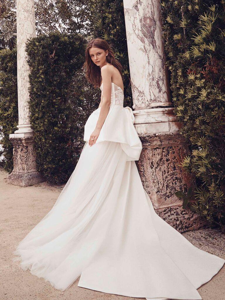 Monique Lhuillier Spring 2020 Bridal Collection strapless wedding dress