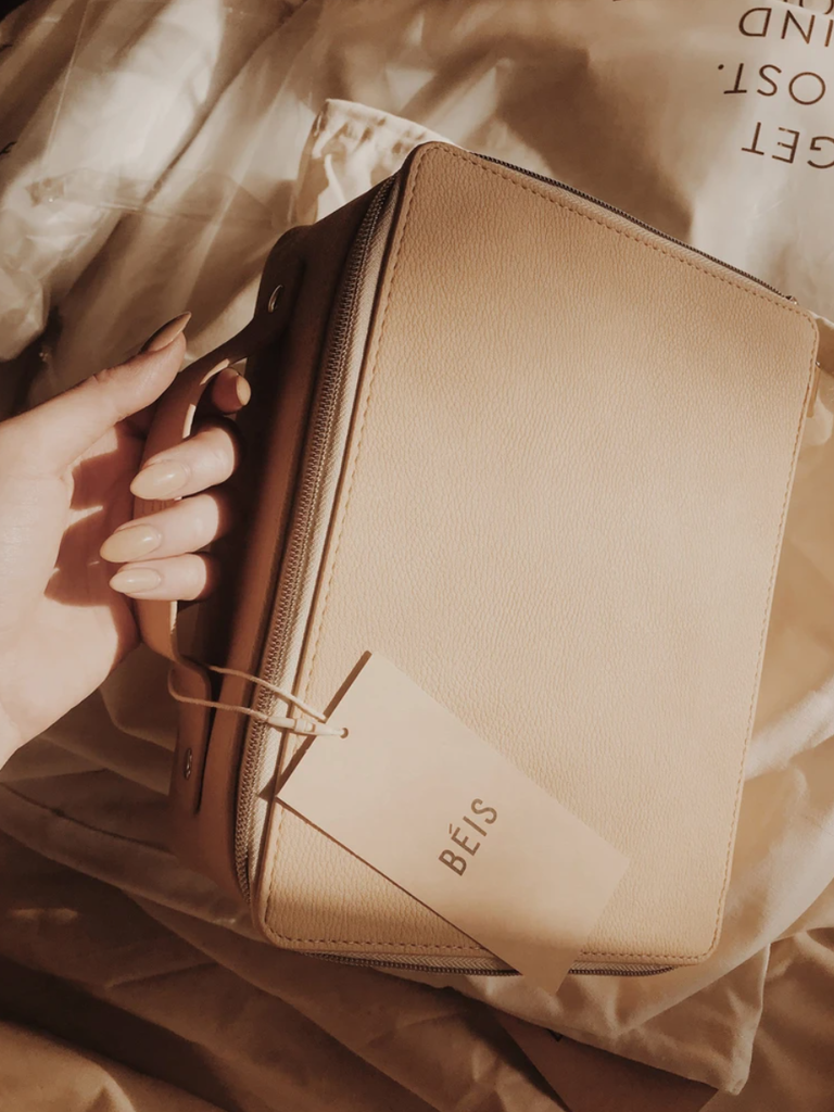 leather travel bridesmaid makeup bag