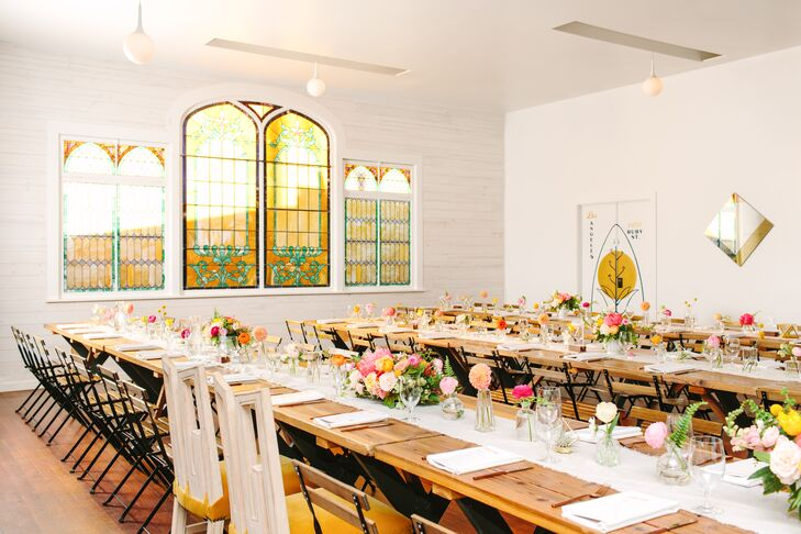 Colorful Reception at The Ruby Street in Los Angeles, California