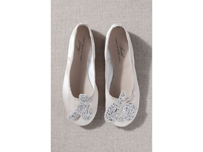 I do sparkly wedding shoes for getting ready