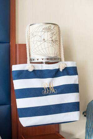 Personalized Nautical Striped Welcome Bags
