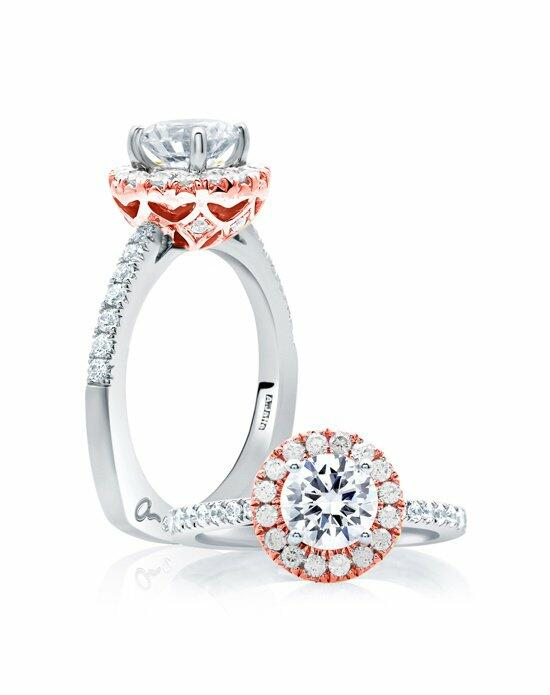 A.JAFFE Center of My Universe™ Rose Gold Diamond Halo Engagement Ring, MES630 Engagement Ring photo