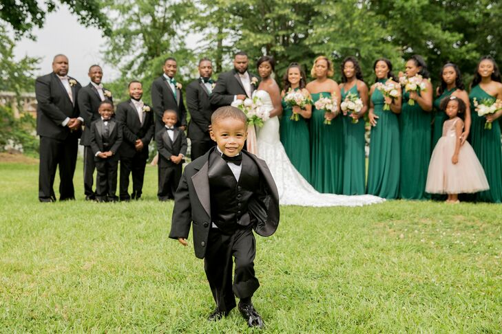 Ring Bearer for Wedding at Stone River in Columbia, South Carolina