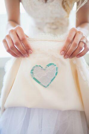 Sentimental Layered Fabric Heart Detail