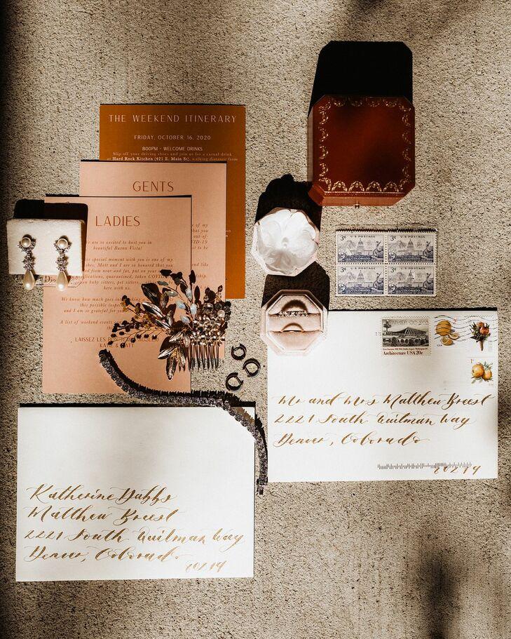 Boho Invitation Suite for Wedding at Surf Hotel in Buena Vista, Colorado