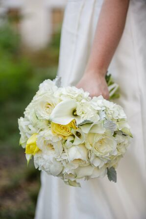 Ivory and Yellow Bridal Bouquet