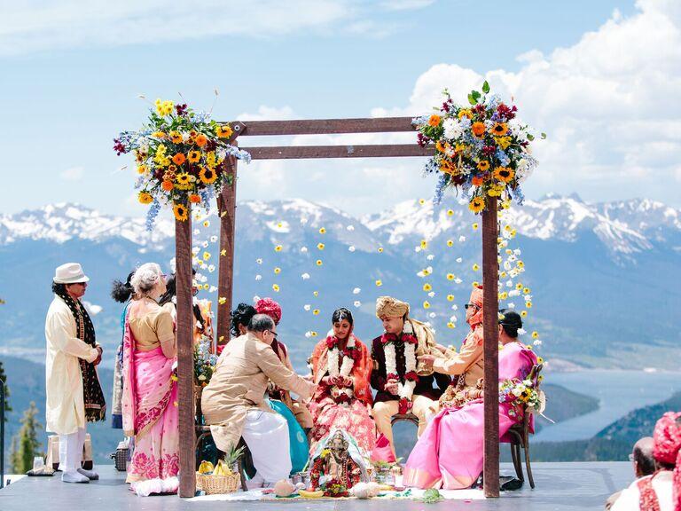 outdoor wedding venues nuptials in mountain