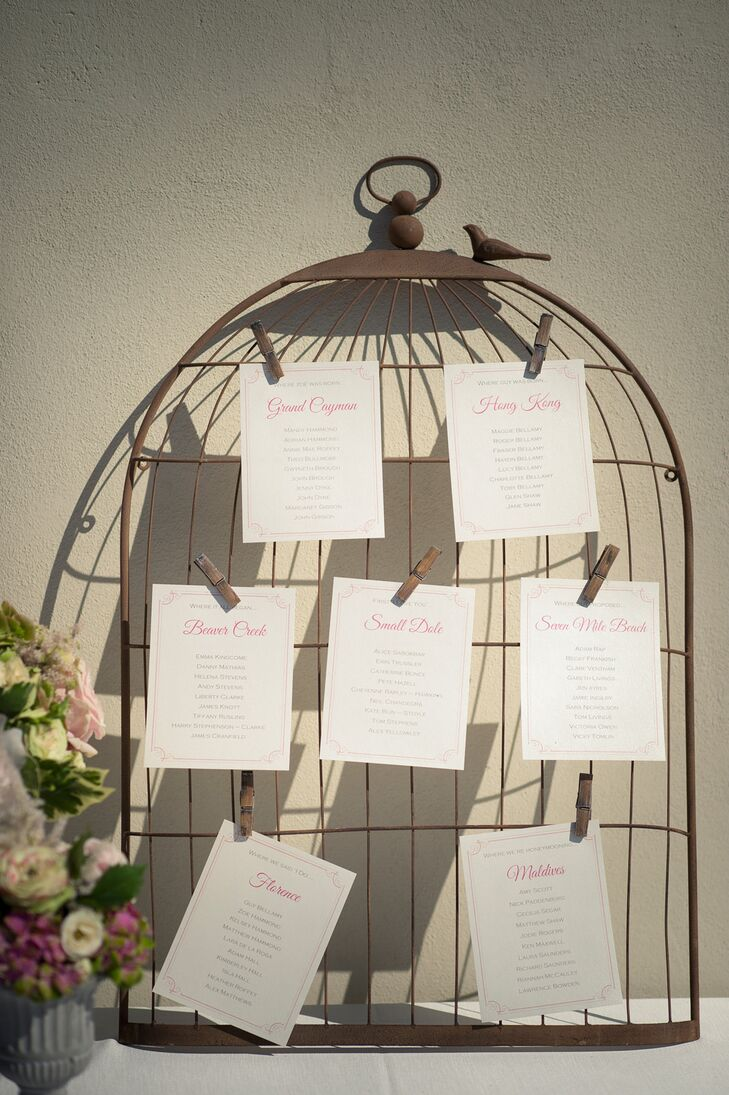 Rustic Birdcage Seating Chart