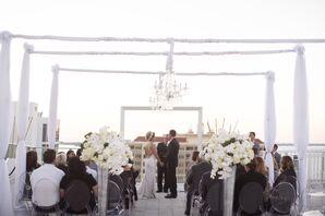 Modern Rooftop Wedding Ceremony