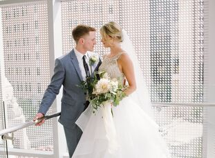 """<b style=""""font-weight: normal;"""">Millie Freeman (26 and a marketing coordinator) and Luke Reinhart (25 and a law student), who first met in elementary"""