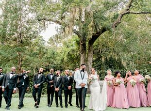 La Kesha and David wanted their wedding day to have two distinct feels—a classic, romantic ceremony to start the day followed by an all-out party at t
