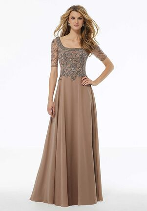 MGNY 72113 Black,Silver,Brown Mother Of The Bride Dress