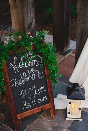 Chalkboard Welcome Sign With Ivy