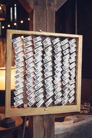 DIY Escort Cards with Black Embossed Labels