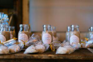 Spanish Wedding Cookies and Mini Milk Jars