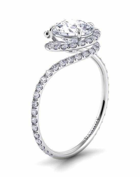 Danhov Abbraccio Swirl With Diamonds Engagement Ring photo