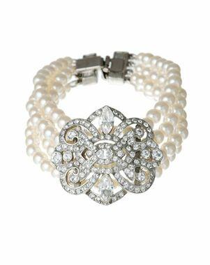 Thomas Laine Ben-Amun Pearl and Vintage Deco Crystal Bracelet Wedding Bracelet photo