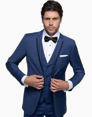 Generation Tux Mystic Blue Edge Lapel Tux Blue Tuxedo