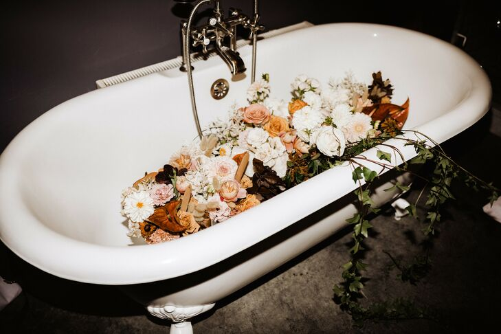 Bathtub Filled with Flowers at Surf Hotel in Buena Vista, Colorado