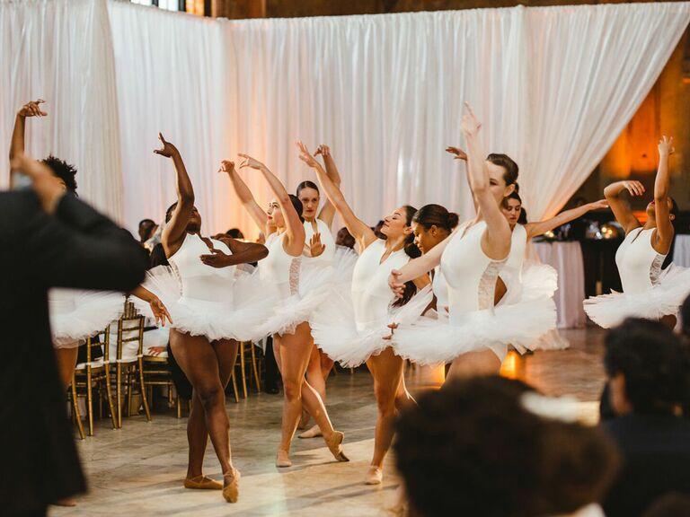 Ballet dancers at wedding reception