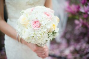 Pastel Hydrangea and Rose Bridal Bouquet