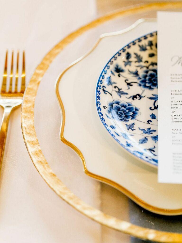gold wedding china