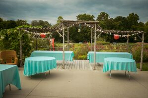 Turquoise Reception Dining Tables