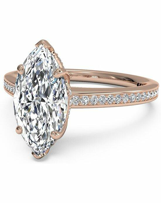 Ritani Marquise Cut Diamond Micropave Band Engagement Ring in 18kt Rose Gold (0.20 CTW) Engagement Ring photo