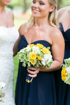 Yellow Rose and White Lisianthus Bouquet