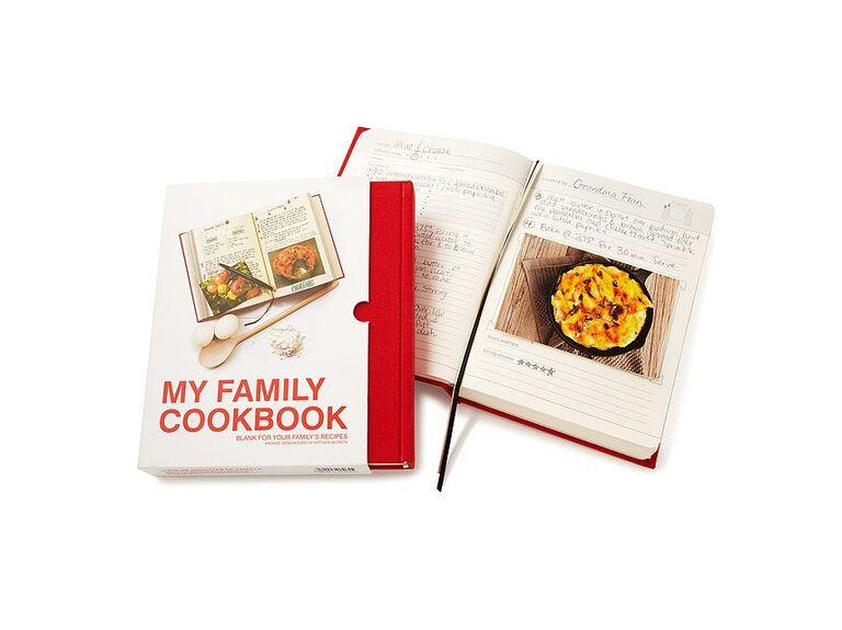 Family recipe blank book gift for boyfriend/girlfriend's parents