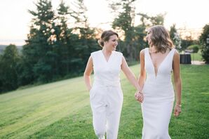 Sunset Couple Portraits at Wedding at the Mansion at Natirar in Peapack, New Jersey