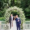 Lawn Games Filled This Couple's Relaxed Backyard Wedding Reception in Ann Arbor, Michigan