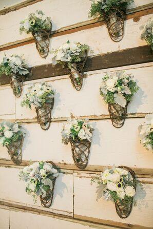 Rustic Barnwood Floral Backdrop