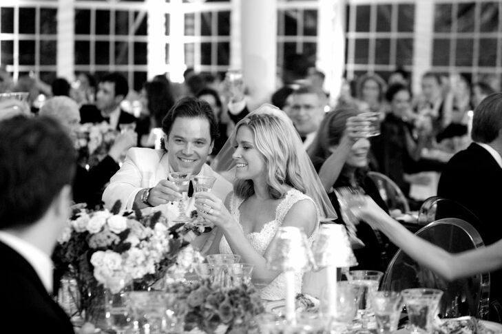 """""""Take some time at the reception and take in all the excitement. You are in a room with all the people you love and there is nothing more wonderful than that,"""" Alex advises."""