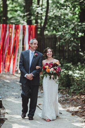 Bright Ribbons as Ceremony Decor