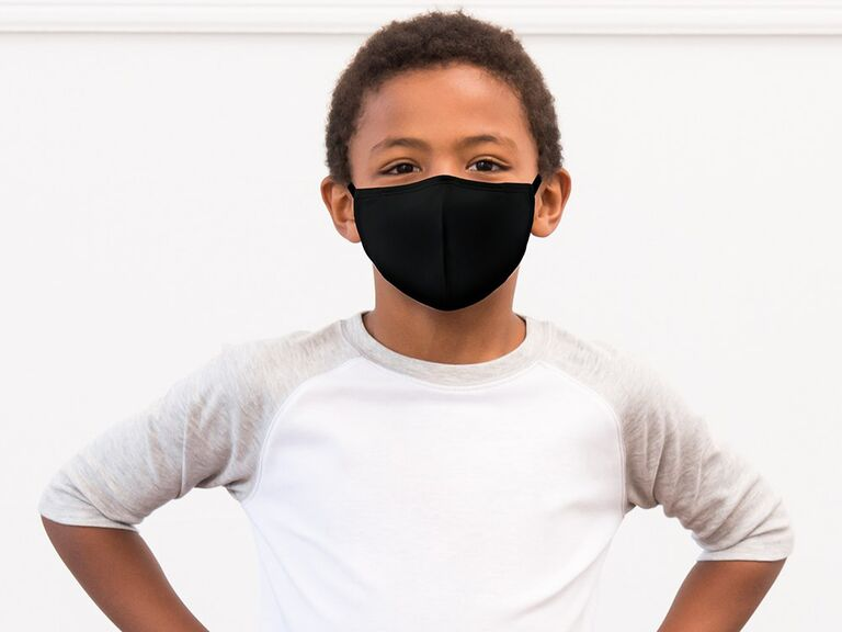 Comfortable black cloth kid's face mask