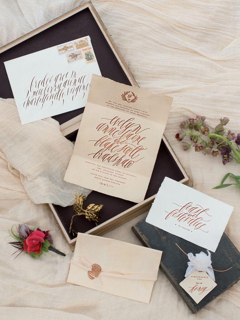 Think Rock Paper Scissors wedding invitation