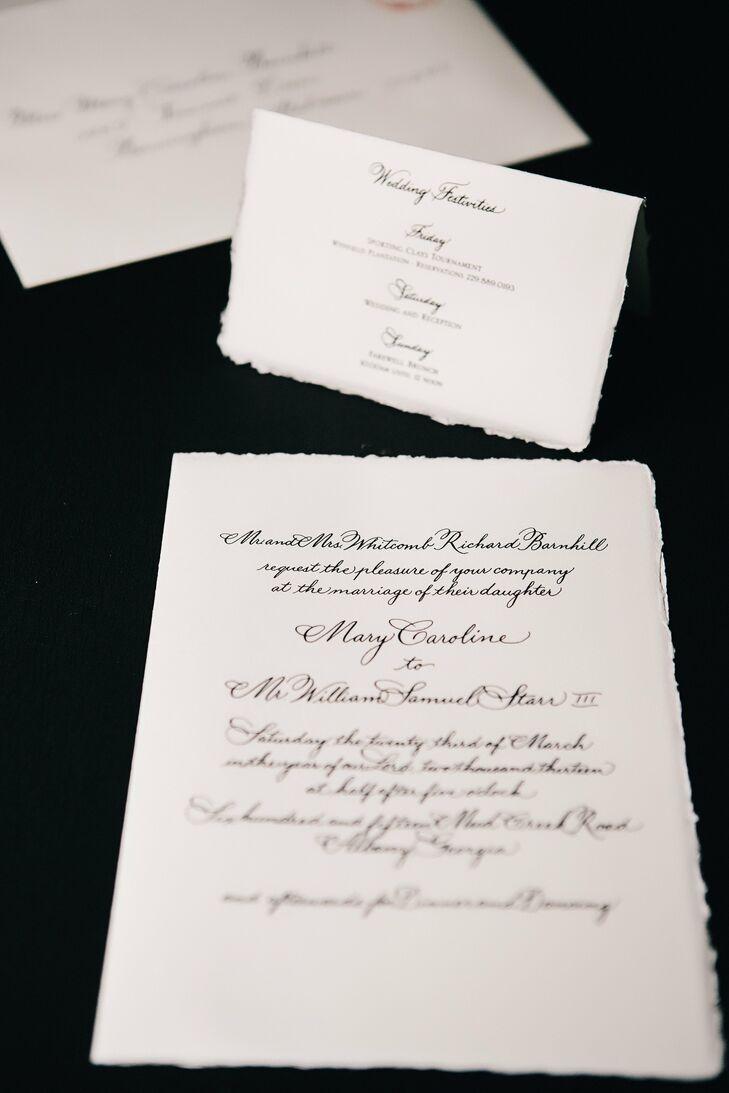 Parchment Style Wedding Invitation