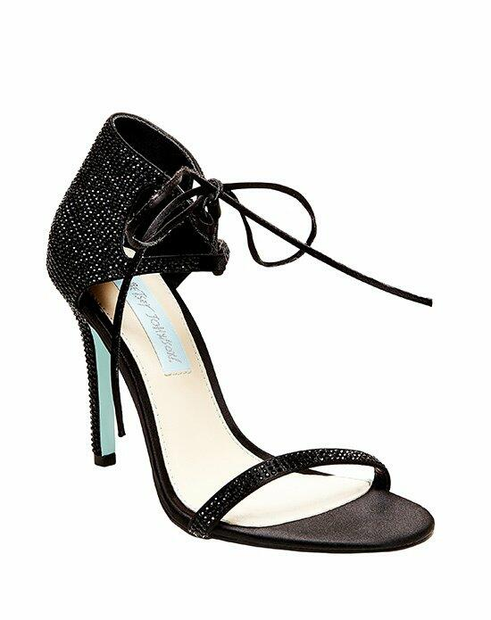 Blue by Betsey Johnson SB-GABI - BLACK SATIN Wedding Shoes photo