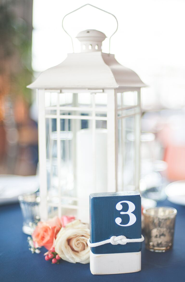 Nautical-themed rose centerpieces