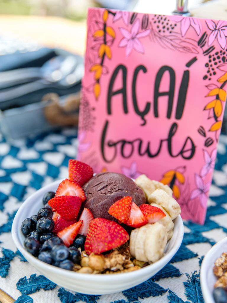 postwedding brunch acai bowls