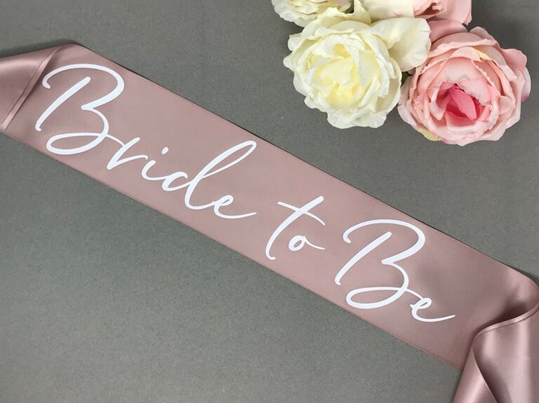 etsy customizable pink bride to be sash with white script for paris themed bridal shower